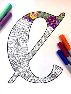 Letter C Zentangle Inspired by the font Deutsch por DJPenscript