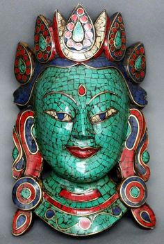 Nepalese wood mask