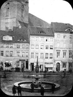 1860 Der Neue Markt mit Brunnen