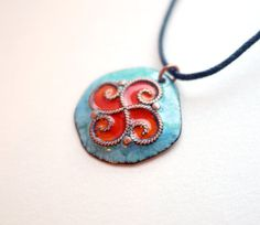 Copper handmade charms necklace. Hypoallergenic. by CopperChic