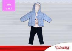 Colección fin de año 2015 - Chaqueta, blusa y jean niña. Más información en www.travesuras.com.co