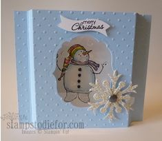 Stampin' Up! Snow Much Fun window card. Measurements and directions on my blog.