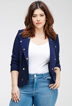 Collarless Double-Breasted Jacket | FOREVER 21 - 2000080744