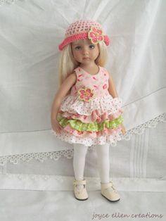 "13"" Effner Little Darling BJD watermelon fluff dress OOAK handmade by JEC #Unbranded #ClothingAccessories. SOLD for $54.00."