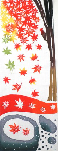 Autumn leaves tenugui 紅葉