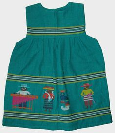 Folk Art Embroidered Dress Guatemala Girl 4 New #Unbranded
