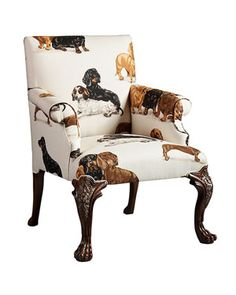 Sit in style in this Doxie chair! I wonder how the husband would feel if I got this for the family room...