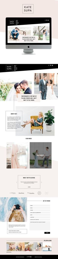 Kate Supa Is Live On Showit — GoLive: Squarespace Website Templates Web Design Trends, Web Design Tips, Web Design Tutorials, Blog Design, Website Design Inspiration, Beautiful Website Design, Brand Inspiration, Layout Inspiration, Website Layout