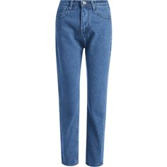 High Waist Capri Straight Jeans (€21) ❤ liked on Polyvore featuring jeans, pants, zaful, straight-leg jeans, high rise jeans, high waisted straight leg jeans, blue capri and high-waisted jeans