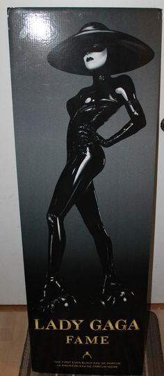 Lady Gaga Fame 55  x 18  Stand Up Advertising Cardboard Cut Out Very RARE