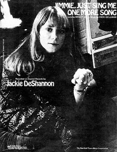 A song I wrote for Jackie de Shannon in 1972. The sheet music.It's on my website www.wendygell.com