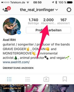"yes I'm proud for my fans just reached the 2K border of followers and NONE of these accounts  has been bought like lots of my ""colleagues"" do! #axelritt #ironfinger #the_real_ironfinger #instagram"