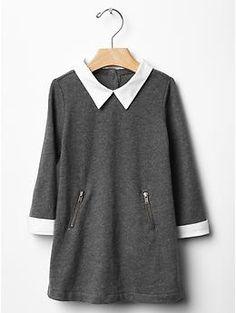 Collared zipper dress