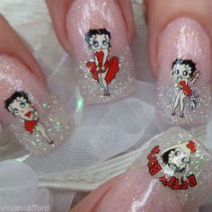 Nail Art Decals BETTY BOOP SEXY HOT Classic CARTOON Retro Water Decal +CD06