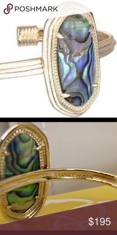Kendra Scott Graham Abalone Cuff Bracelet Retired cuff worn once, comes in yellow box Kendra Scott Jewelry Bracelets