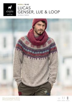 Ravelry: Lucas genser, lue og loop pattern by Iselin Hafseld Hand Knitted Sweaters, Sweater Knitting Patterns, Mens Knitted Scarf, Knit Fashion, Mens Fashion, Crochet Men, Ski Sweater, Mens Attire, Pulls