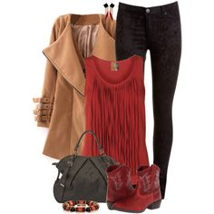 Ariat boots, created by mommygerloff on Polyvore