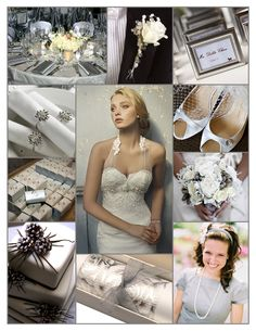 Silver, grey, and white wedding inspiration