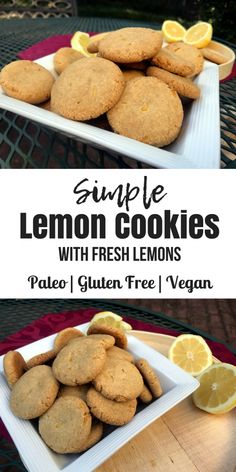 Easy Lemon Cookies (Paleo, Gluten Free, Vegan) - Oh Snap! Let's Eat!