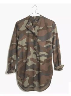 43d3701f2c212 Madewell JCrew The Perfect Tunic in Cotton Camo in Size Medium  fashion   clothing