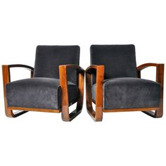 Pair of Hungarian Arm Chairs | From a unique collection of antique and modern armchairs at https://www.1stdibs.com/furniture/seating/armchairs/