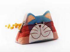 Gato cartera / monedero cremallera del gato / gato por DooDesign