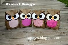 paper bag owls - Google Search