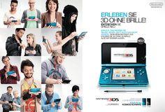 Doppelseitige Anzeige zum Launch des Nintendo 3DS