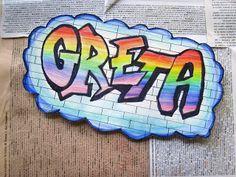 21 ideas canvas art ideas for teens middle for 2019 Banksy Art, Graffiti Wall Art, Street Art Graffiti, Art Ideas For Teens, Art For Kids, Name Design Art, Name Art Projects, Classe D'art, Graffiti Lettering Fonts