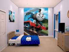 Thomas the Tank Engine No1 Wallpaper Border - 7 inch | Bedroom