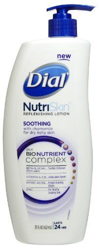 Dial NutriSkin Replenishing Lotion, Soothing with Chamomile, for Dry Itchy Skin, 12 oz. by Dial, http://www.amazon.com/dp/B004R6YY32/ref=cm_sw_r_pi_dp_KVTirb1NTBRG3