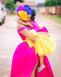 "SEPEDIxBAPEDI on Instagram: ""Much love for all the queens raising Bapedi princesses, re batho ka lena. 💛💕 #Repost @feminine_kamo ・・・ A mother's love for her child is…"" Sepedi Traditional Dresses, African Traditional Wedding, African Weddings, Wedding Goals, Weeding, Princesses, Raising, Love Her, Queens"