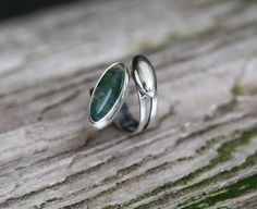 Spiral Rings – Moss Agate Silver Ring, Gem Unique Jewelry – a unique product by savajewellery on DaWanda