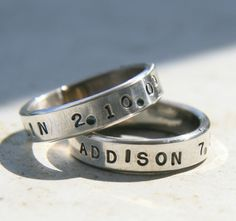 Silver Jewelry - Personalized Handstamped Ring. $43.00, via Etsy.