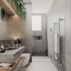 Badezimmer Minimal Interior Design Inspiration - How To Choo Bathroom Layout, Modern Bathroom Design, Bathroom Interior Design, Decor Interior Design, Small Bathroom, Bathroom Plants, Bathroom Ideas, Bathroom Sinks, Bathroom Organization