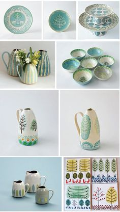 Lovely blue pottery. Follow the links to find out more
