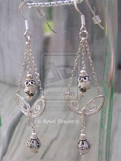 .Chandelier chain earrings...