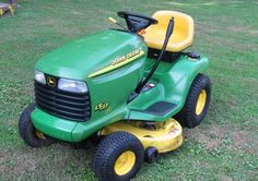 Holly's dad Chuck would let me ride the tractor. Best Riding Lawn Mower, Riding Mower, John Deere Lt133, Types Of Lawn, Landscaping Equipment, Tractor Mower, Yard Care, My Ride, Tractors