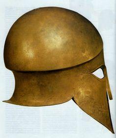 hellas-inhabitants: Bronze Corinthian helmet,ca. Greek Artifacts, Ancient Artifacts, Greek History, Ancient History, Greek Helmet, Corinthian Helmet, Helmet Armor, Ancient Armor, Minoan