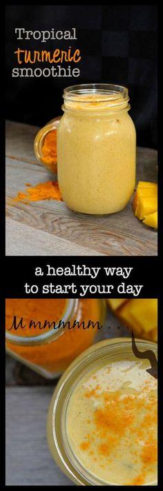 Tropical Turmeric Smoothie  www.flavourandsavour.com