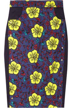 KENZO|Floral-print stretch-cotton skirt|NET-A-PORTER.COM