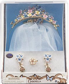 Disney Princess Cinderella Wedding Accessory Set . Despite being fake here a metal replica with enamel could work well this would be just beautiful.