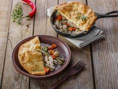 Who doesn't love a classic chicken pot pie recipe? Well, if you're little tired of old reliable you can give this version a whirl! It's a delicious, hearty way to fill your belly after a hectic weeknight. The kids will just love this one, and they won't even know it's lightened up from the traditional version!