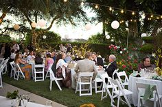 DIY Backyard Wedding Receptions | If you have the time and the place, wedding luncheons are beautiful in ...