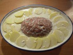Gefüllter Hackbraten mit Kartoffelgratin - Rezept