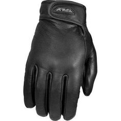 FLY Street RUMBLE Thin Leather Motorcycle Gloves Black Leather