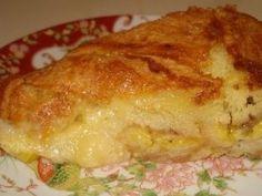 Receita torta de banana cremosa em bolos e tortas doces