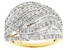 round and baguette white diamond, yellow gold dome ring. measures approximately x and is not sizeable. Diamond Gemstone, Gemstone Colors, Broken Chain, Band Engagement Ring, Types Of Rings, Gold Material, Yellow Gold Rings, Baguette, Diamonds