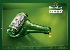 The Print Ad titled Empty bottle - simple was done by Publicis Conseil Paris advertising agency for brand: Heineken in France. Clever Advertising, Advertising Campaign, Advertising Design, Marketing And Advertising, Guerilla Marketing, Street Marketing, Old Posters, Great Ads, Ads Creative