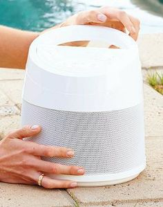 The Melody Wireless Outdoor Speaker delivers 360° of exceptional sound in a portable, all-weather design that's perfect for poolside use.